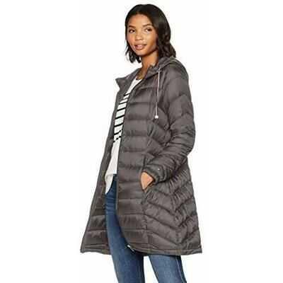 2ebb659313 Geci de iarna Women s Mid Length Packable Down Chevron Quilt Coat Femei