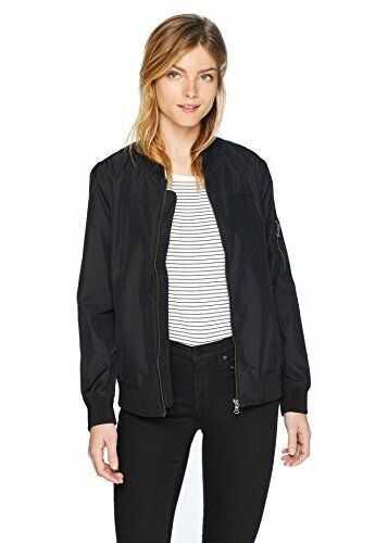Calvin Klein Women's Bomber Jacket Classic Black
