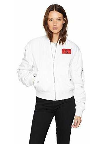 Calvin Klein Women's Bomber Jacket Standard White