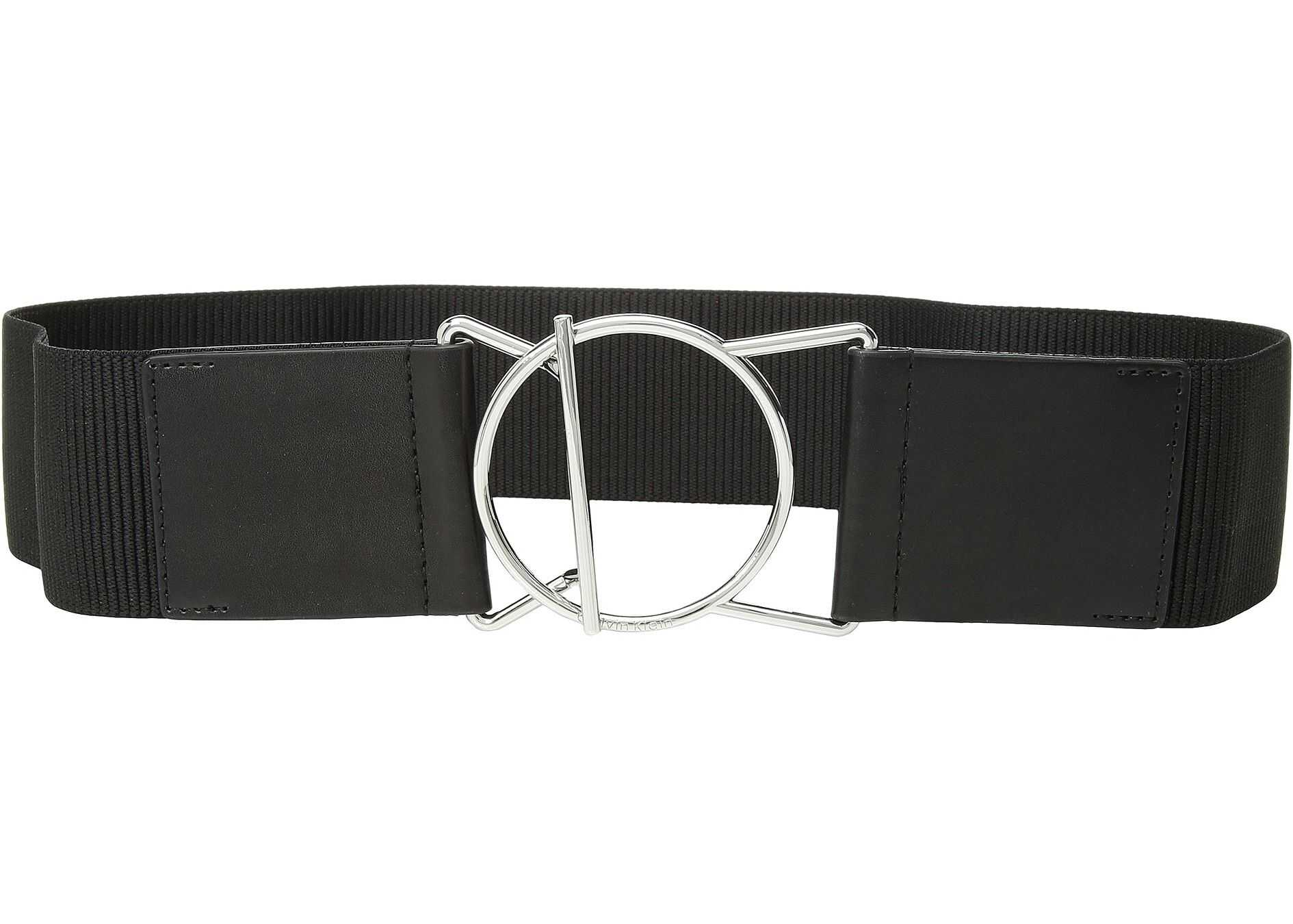 Calvin Klein 60 mm Stretch Belt Black/Brushed Nickel