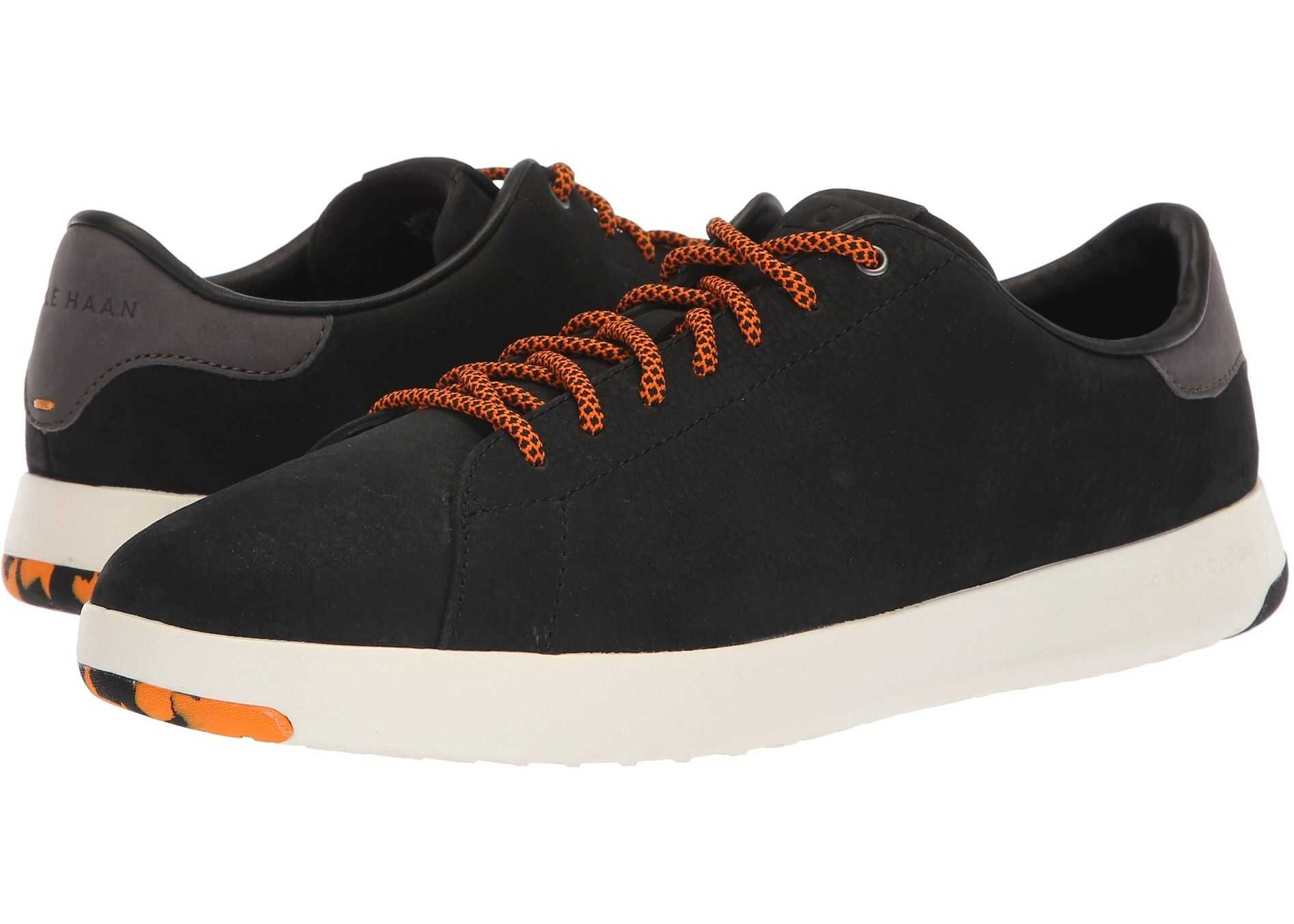 Cole Haan GrandPro Tennis Sneaker Black/Tumeric
