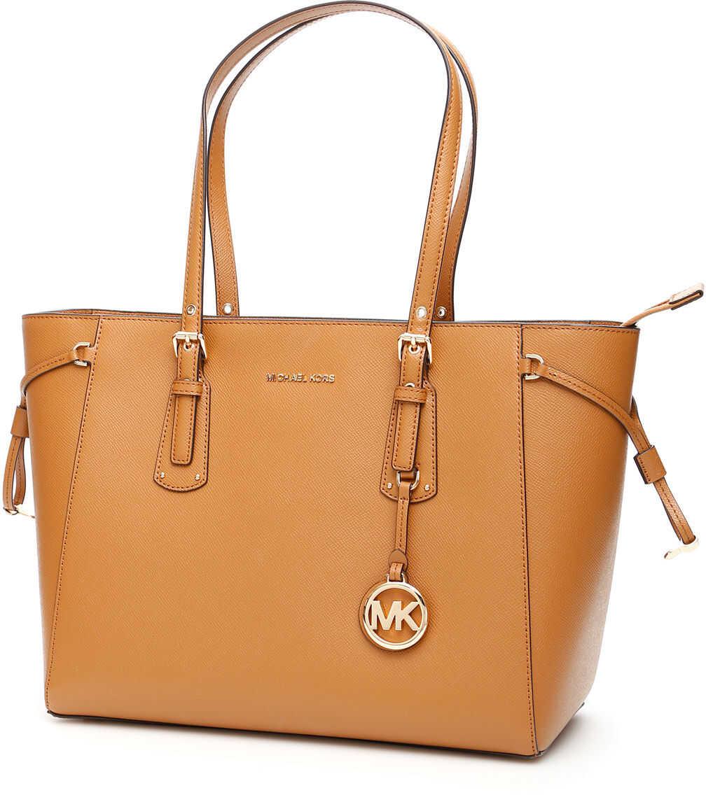 Michael Kors Voyager Leather Tote Bag ACORN