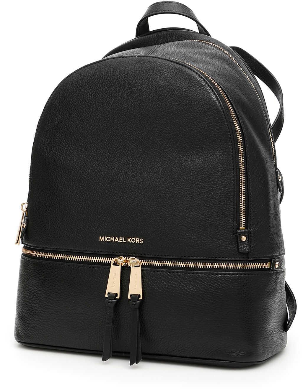 Michael Kors Large Rhea Backpack BLACK