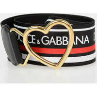 Curele 5cm Elastic Band Belt With Heart Buckle Femei