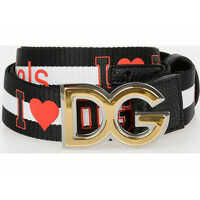 Curele D&G MILLENNIALS 35cm Fabric Belt Barbati