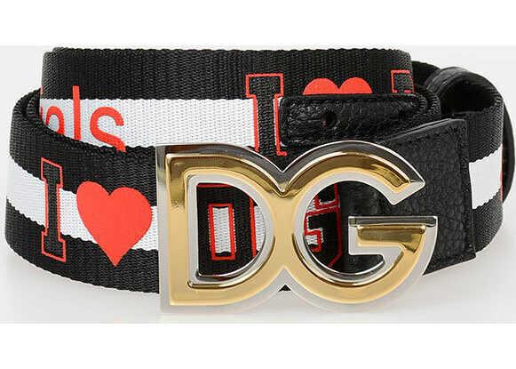 Dolce & Gabbana D&G MILLENNIALS 35cm Fabric Belt N/A