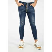 Blugi DSQUARED2 Distressed TIDY BKER Jeans 16 Cm