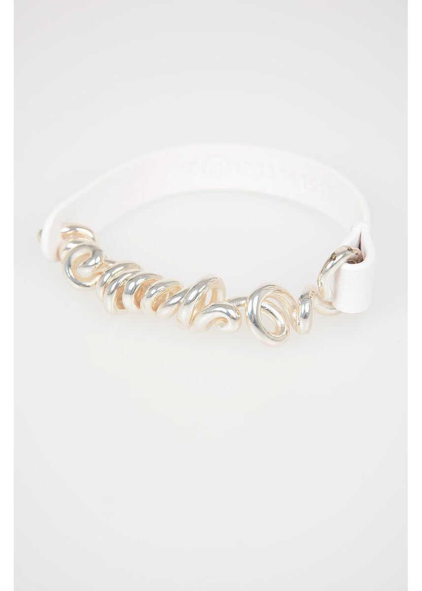 Maison Margiela MM11 Leather Brass Bracelet WHITE