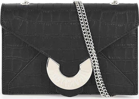Just Cavalli Leather Mini bag BLACK