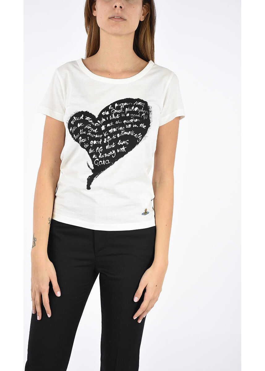Vivienne Westwood Jersey cotton T-shirt WHITE