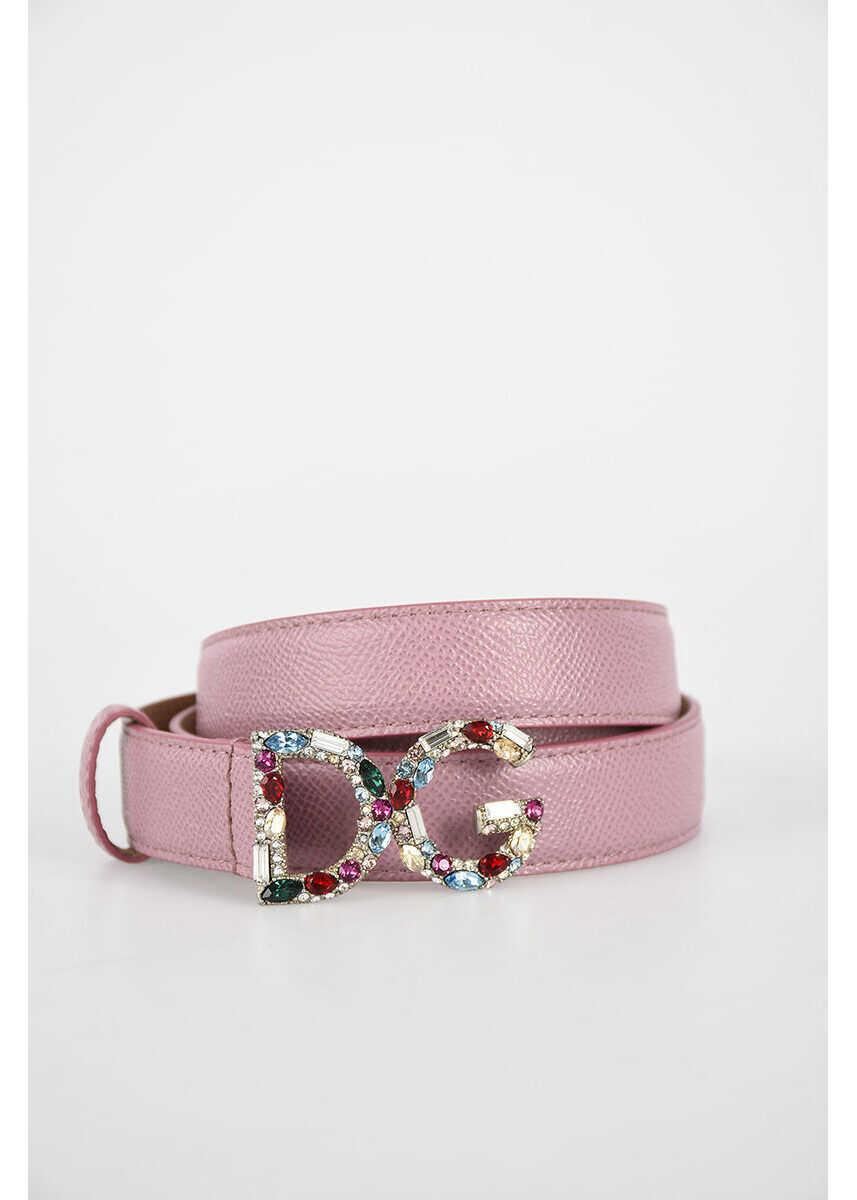 Dolce & Gabbana 2,5cm Jewels Leather Belt N/A