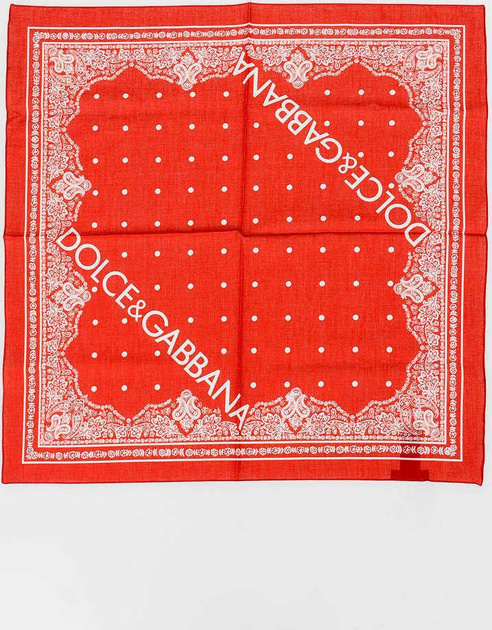 Dolce & Gabbana 50x50cm Cotton Foulard N/A