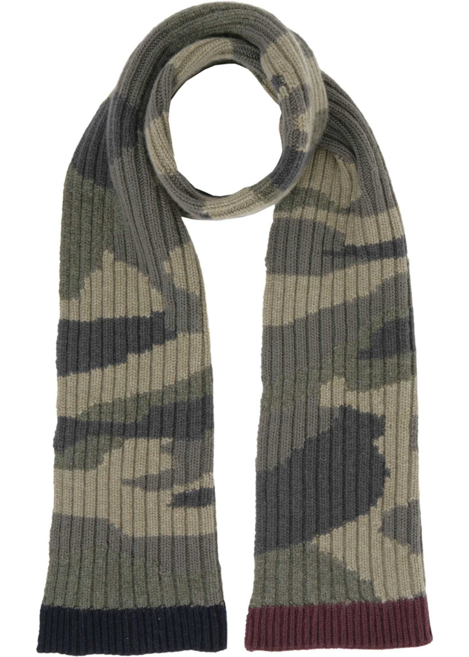 Valentino Camouflage Print Scarf MILITARY GREEN