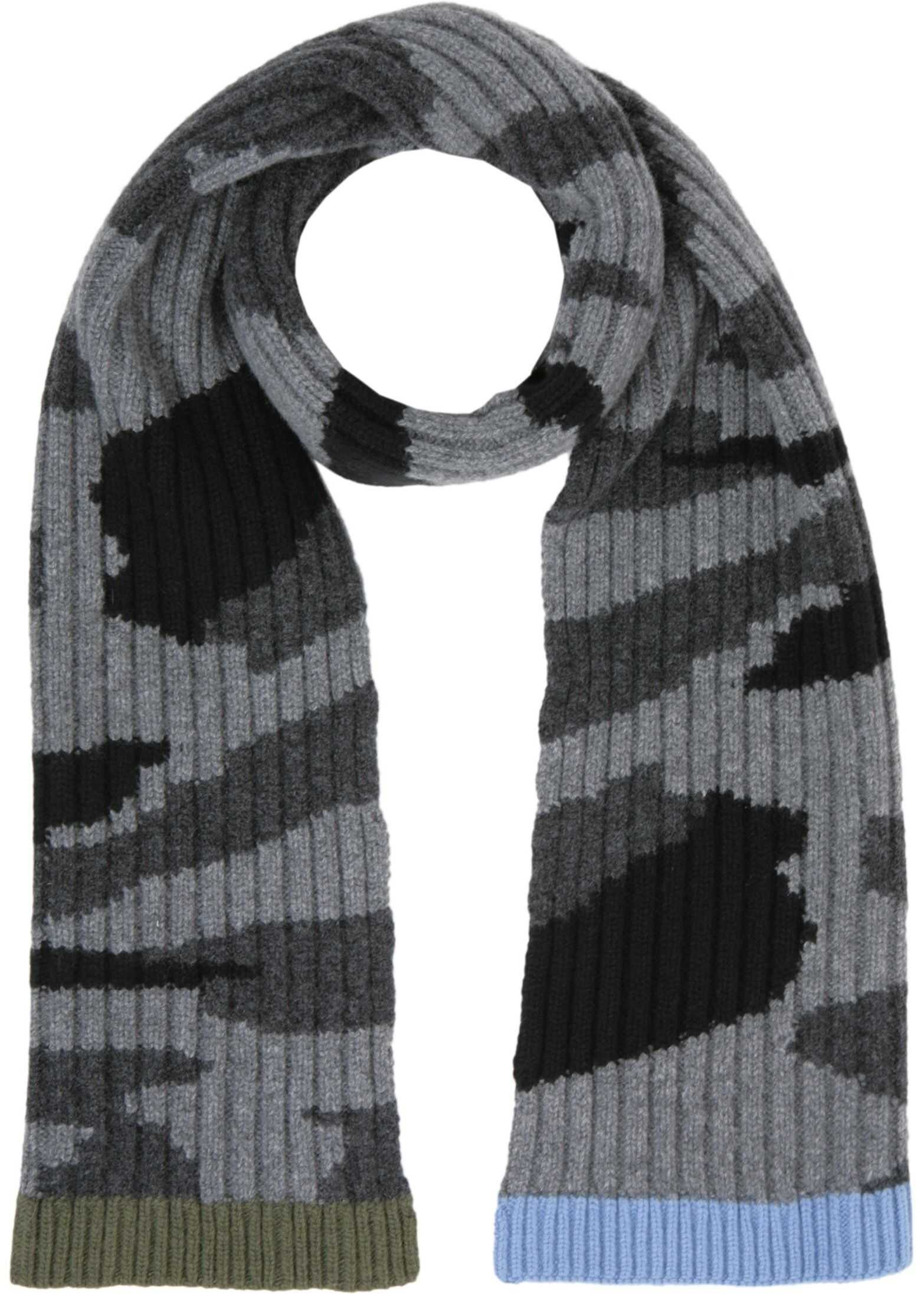 Valentino Camouflage Scarf GREY