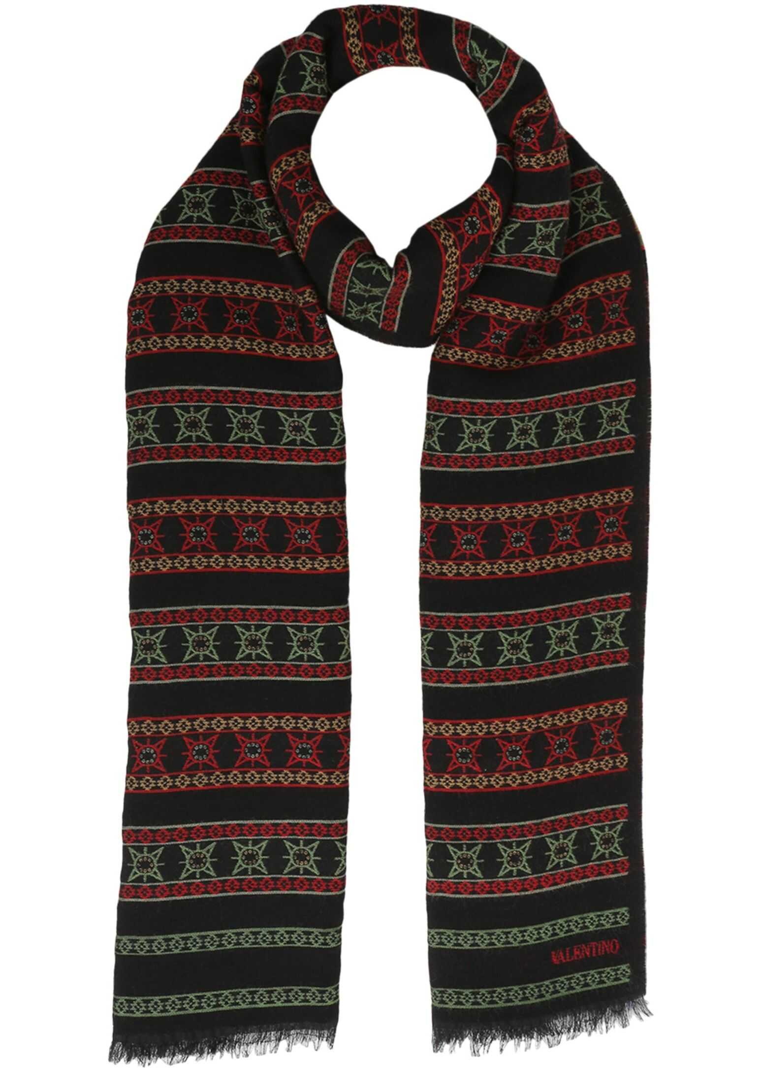 Valentino Wool Scarf BLACK