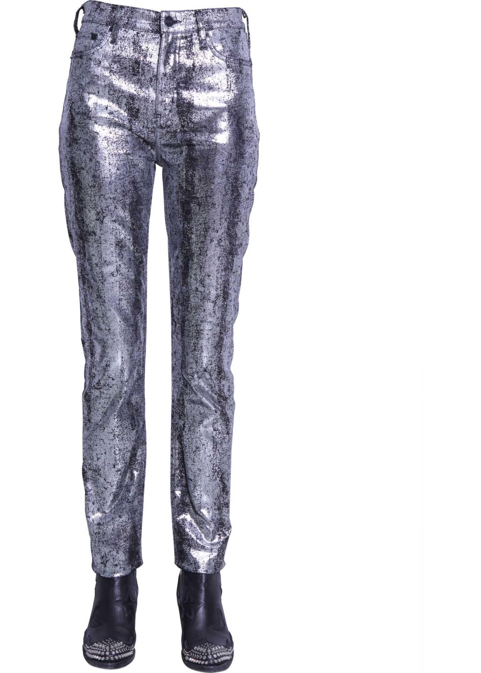 MCQ Alexander McQueen Five Pocket Jeans SILVER