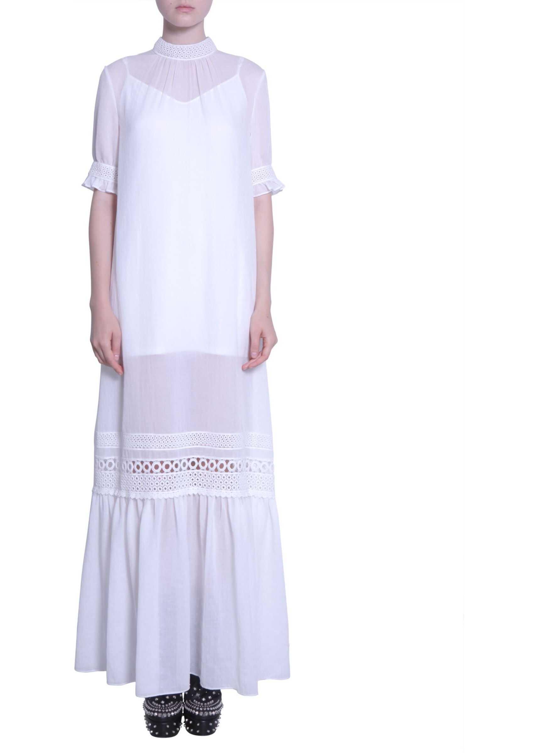 MCQ Alexander McQueen Maxi Dress WHITE
