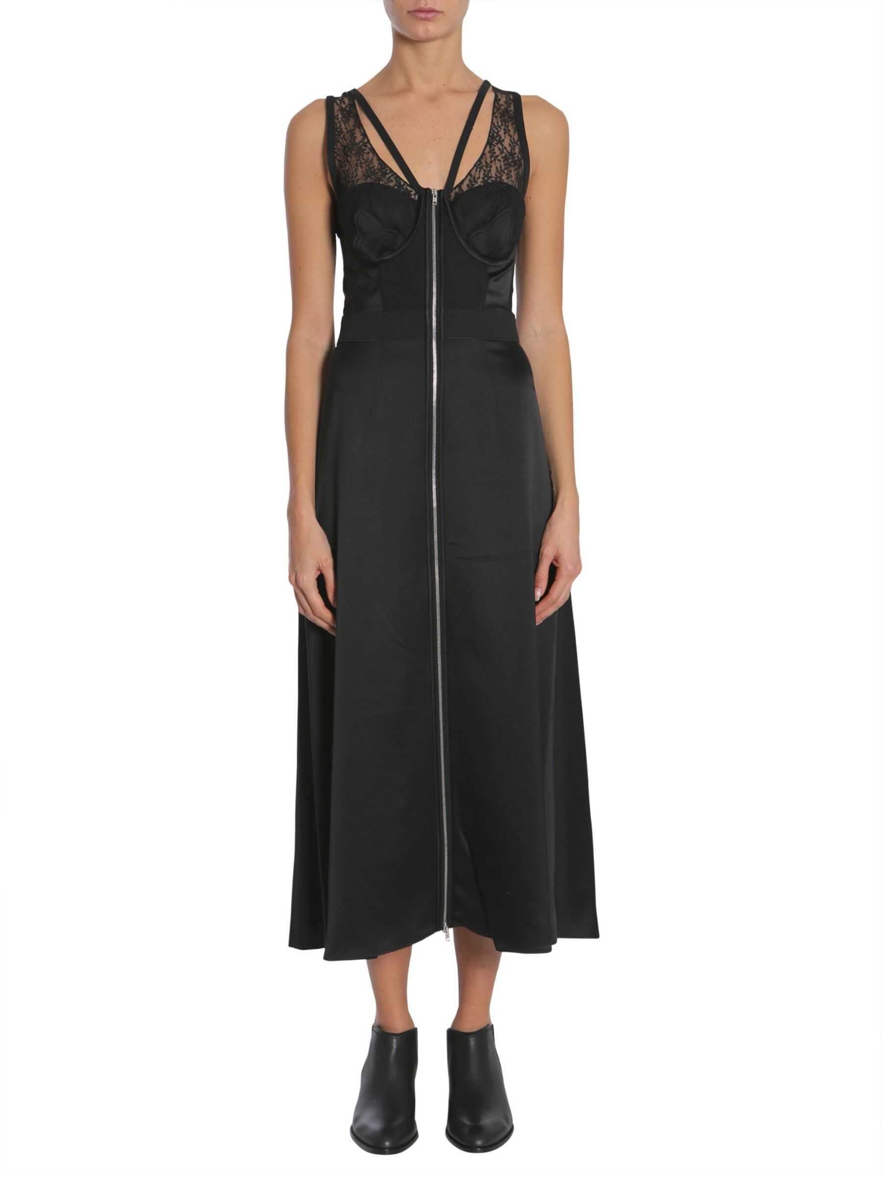 Alexander Wang Midi Silk Dress BLACK