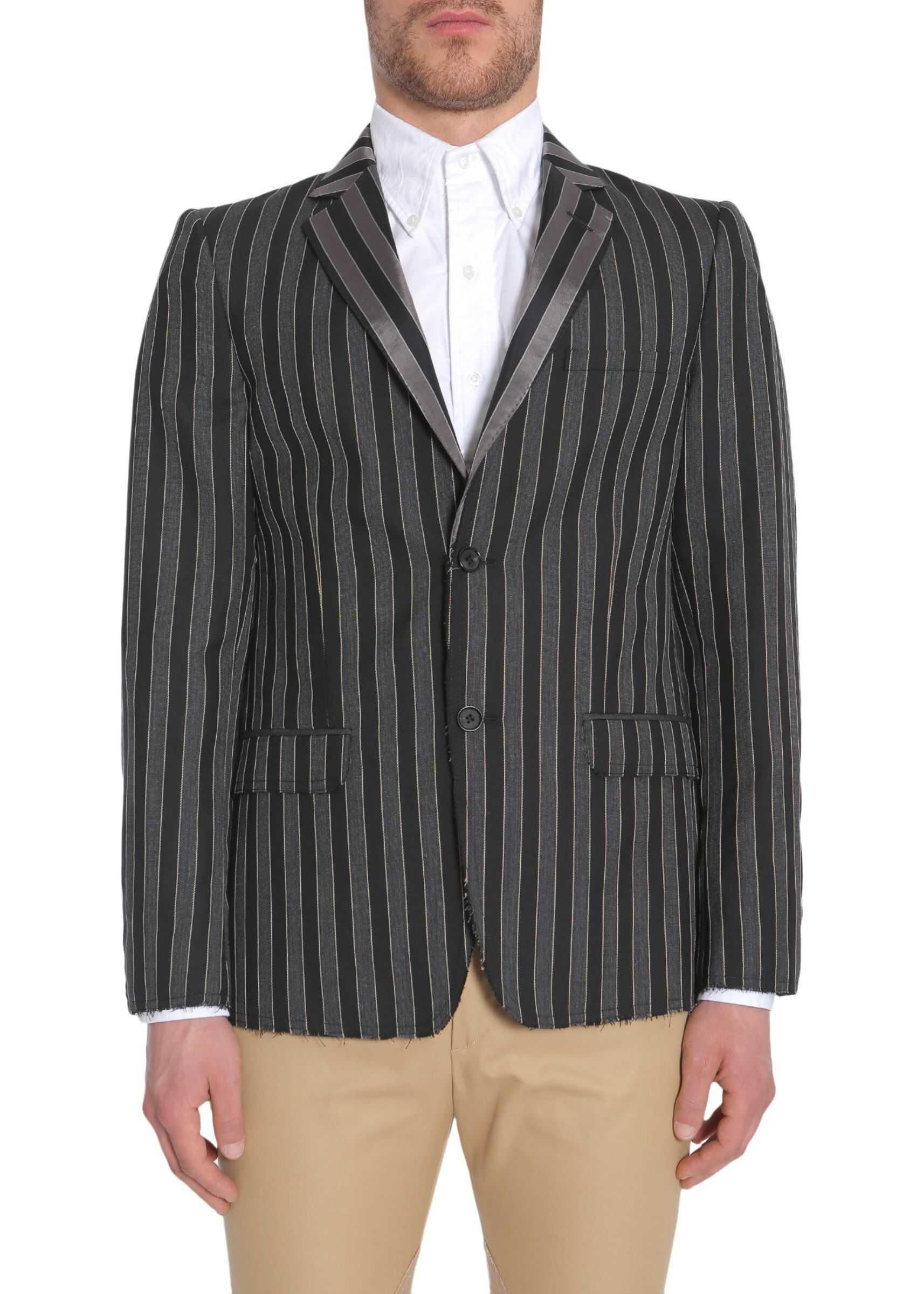 Alexander McQueen Striped Jacket MULTICOLOUR