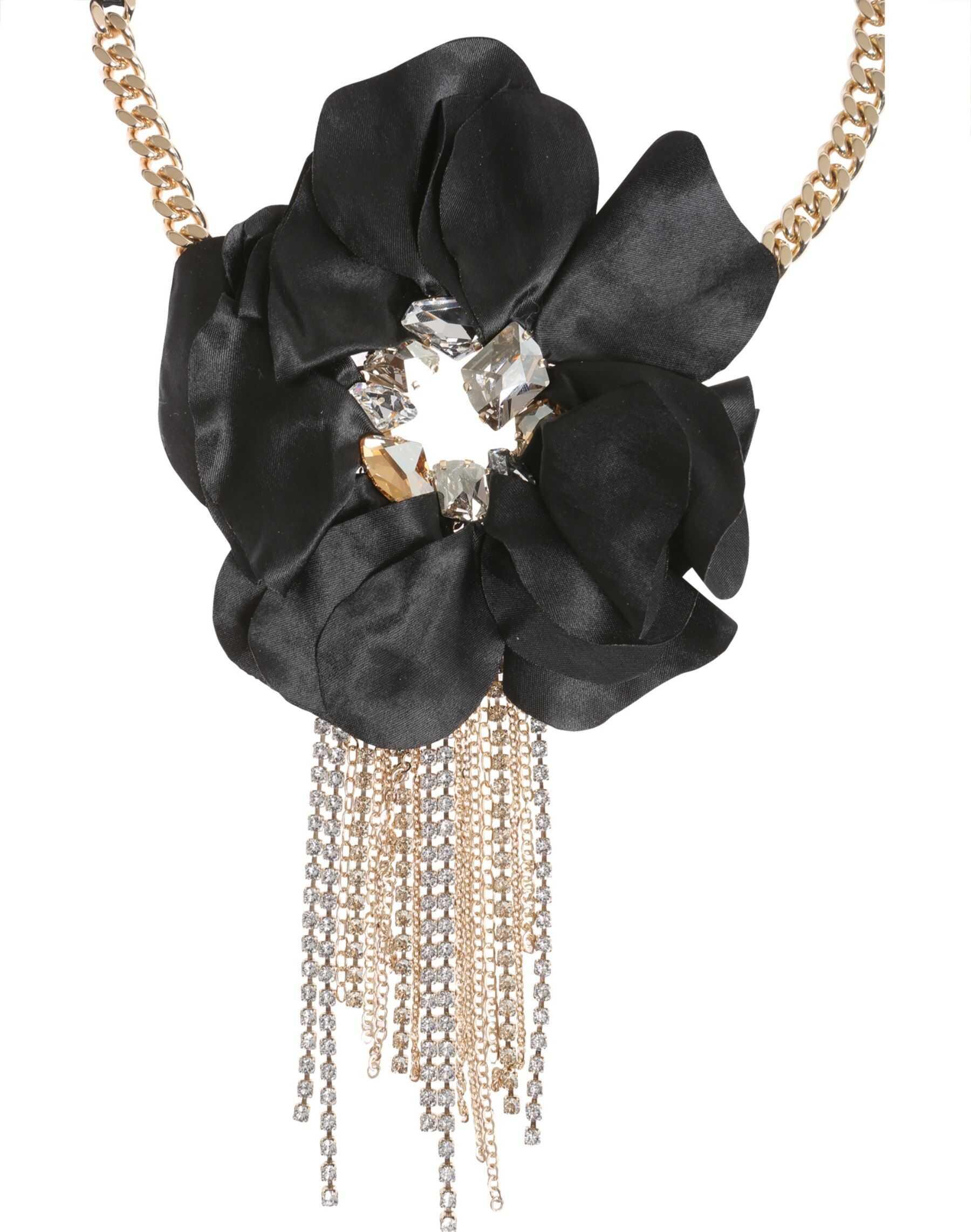 Lanvin Flower Charm Choker BLACK