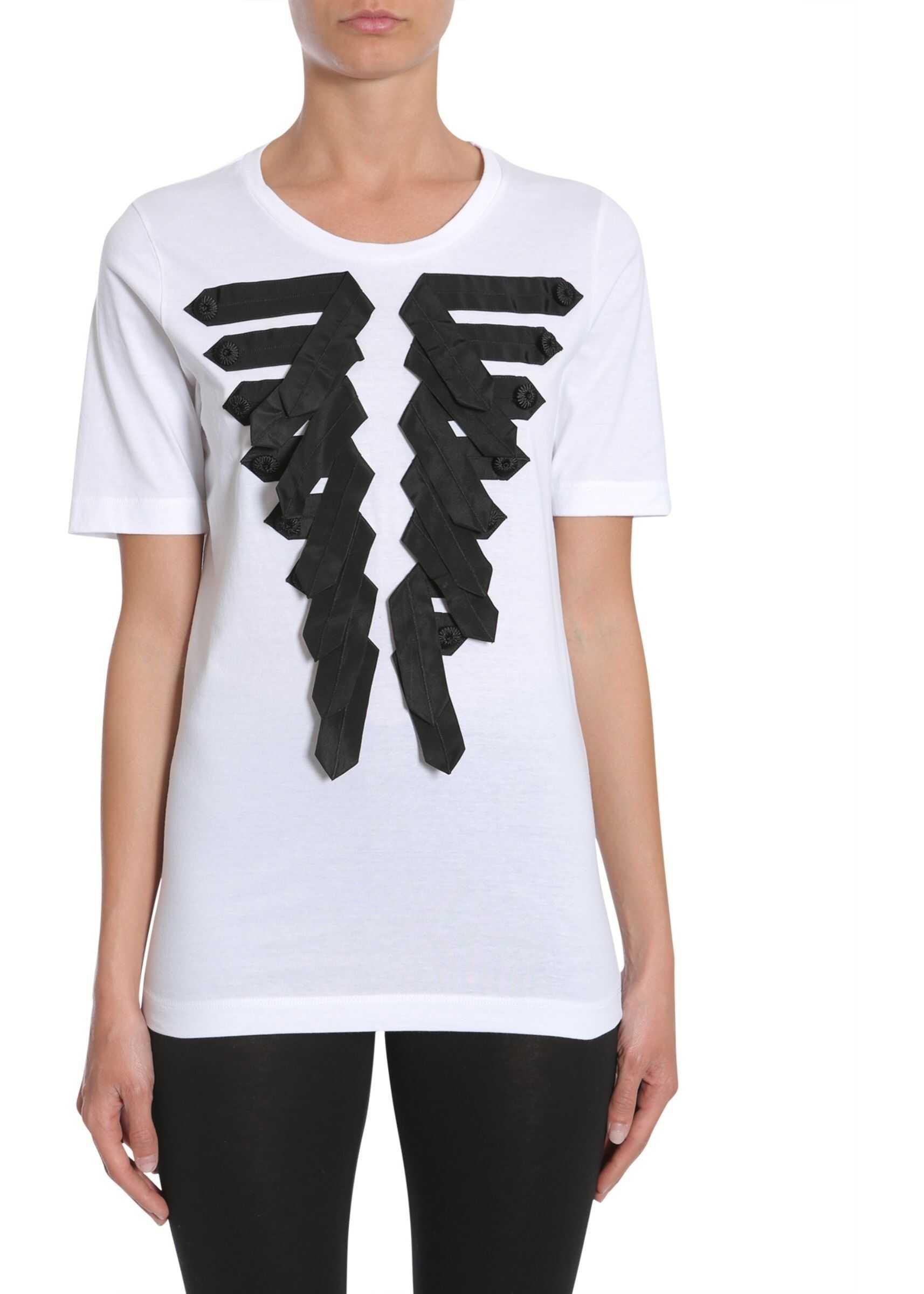 DSQUARED2 Round Collar T-Shirt WHITE