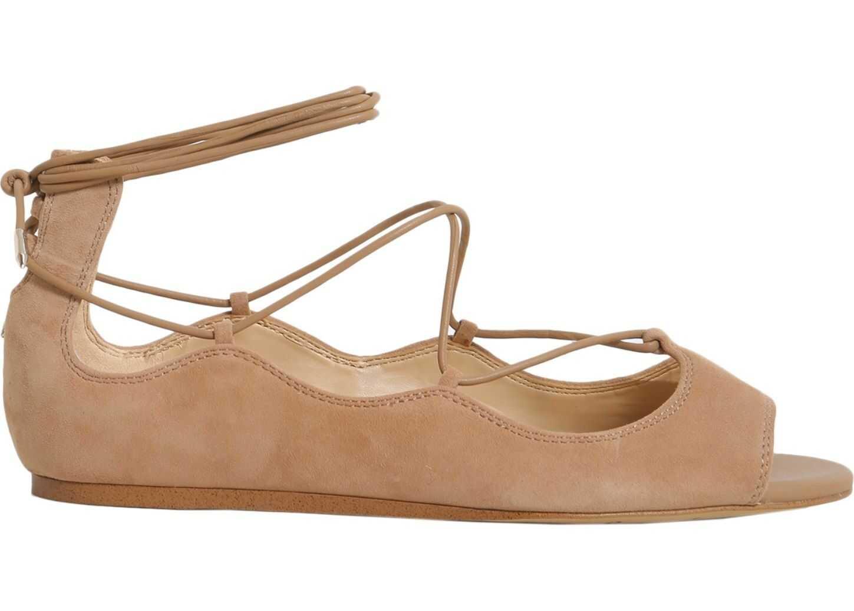 Sam Edelman Barbara Peep Toe Flats BEIGE