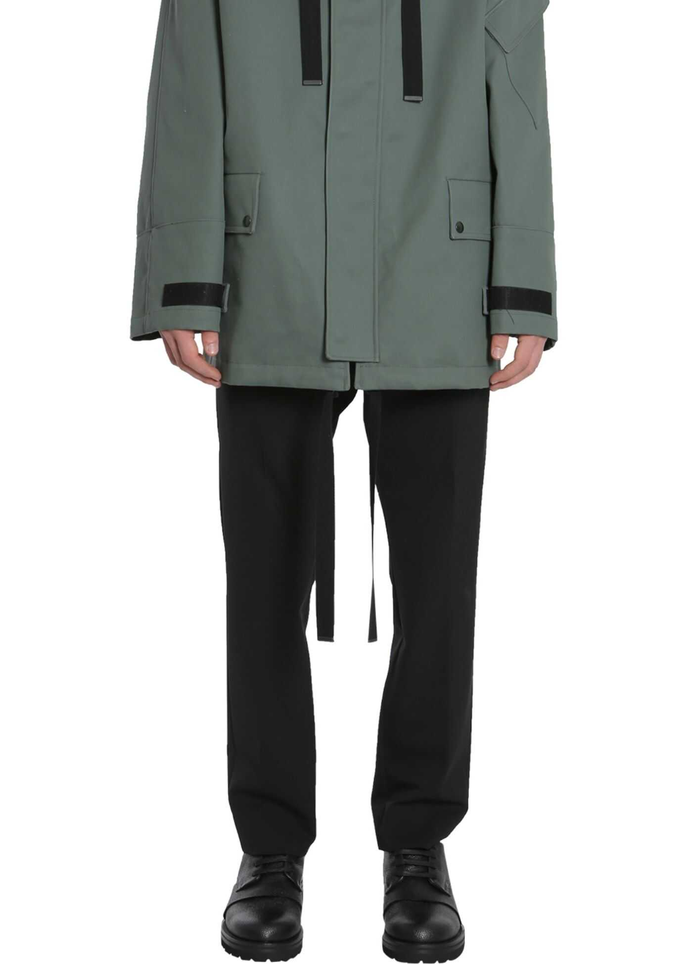 Lanvin Coated Cotton Parka GREEN