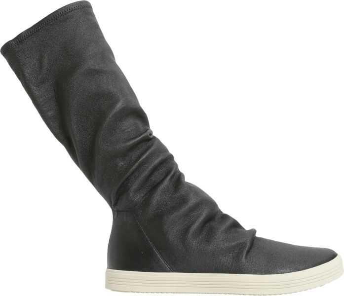 potrivire clasică jumătate de preț cumpărare acum Ghete Rick Owens Stretch Leather High Top Sneakers BLACK Barbati ...