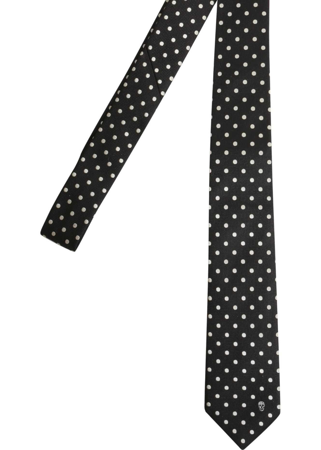 Alexander McQueen Polka Dots Tie BLACK