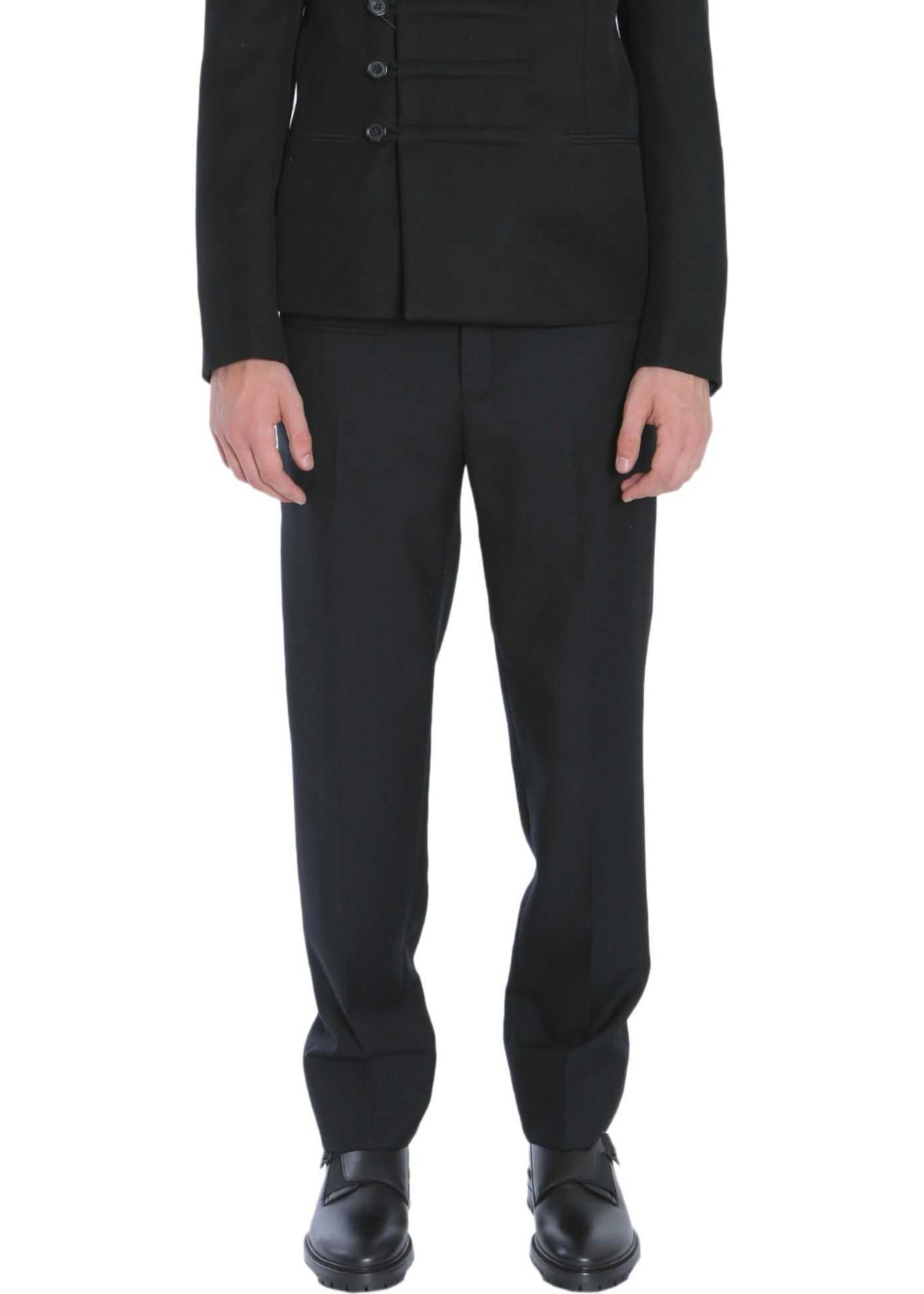 Saint Laurent Military Double-Breasted Jacket BLACK