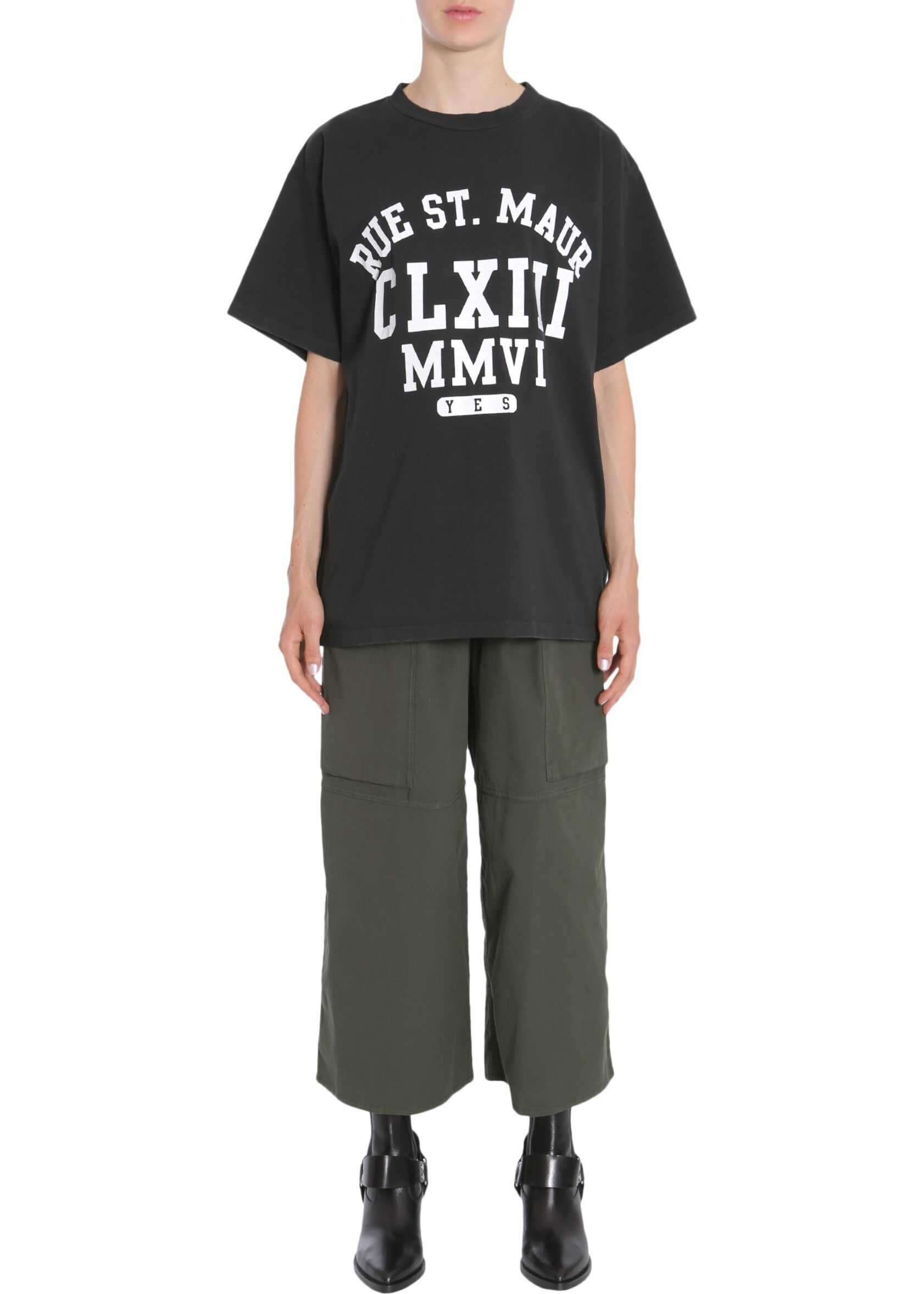 MM6 Maison Margiela Oversize Fit T-Shirt BLACK