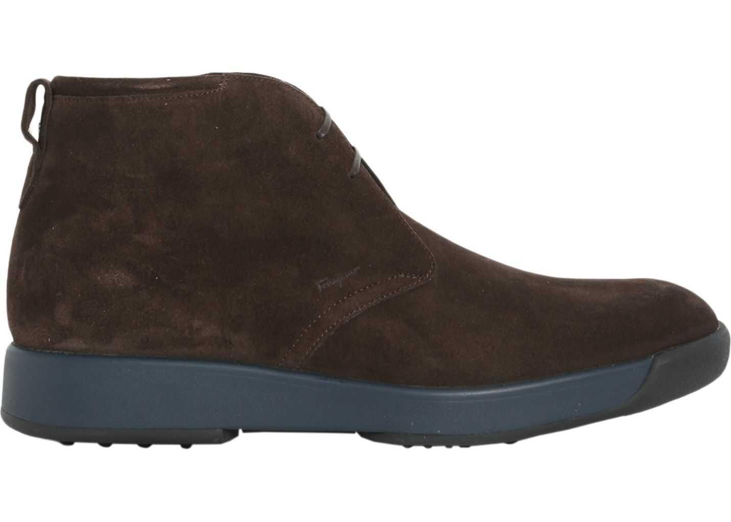 Salvatore Ferragamo Dorris Ankle Boots BROWN