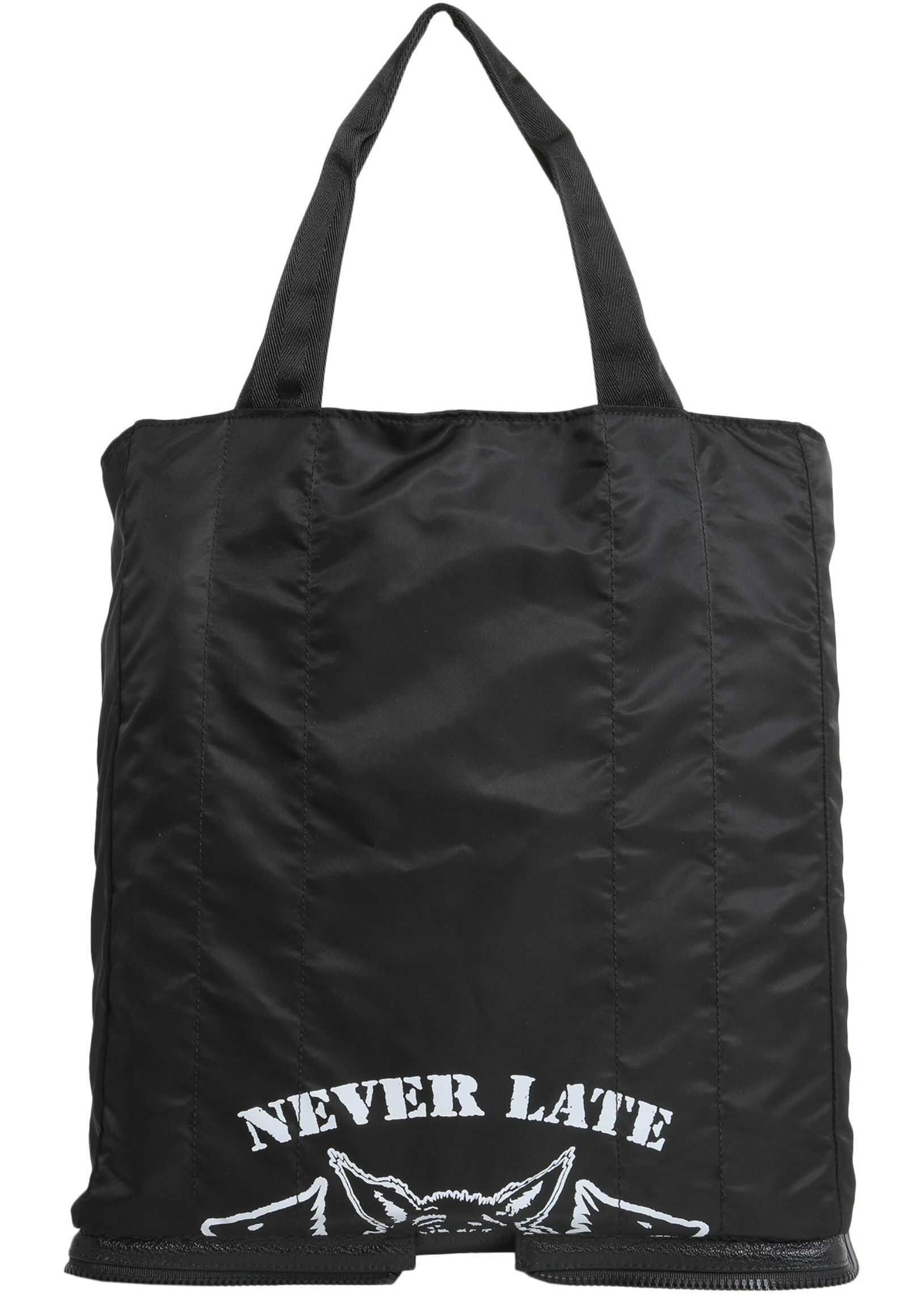 Maison Margiela Shopping Bag In Technical Fabric BLACK