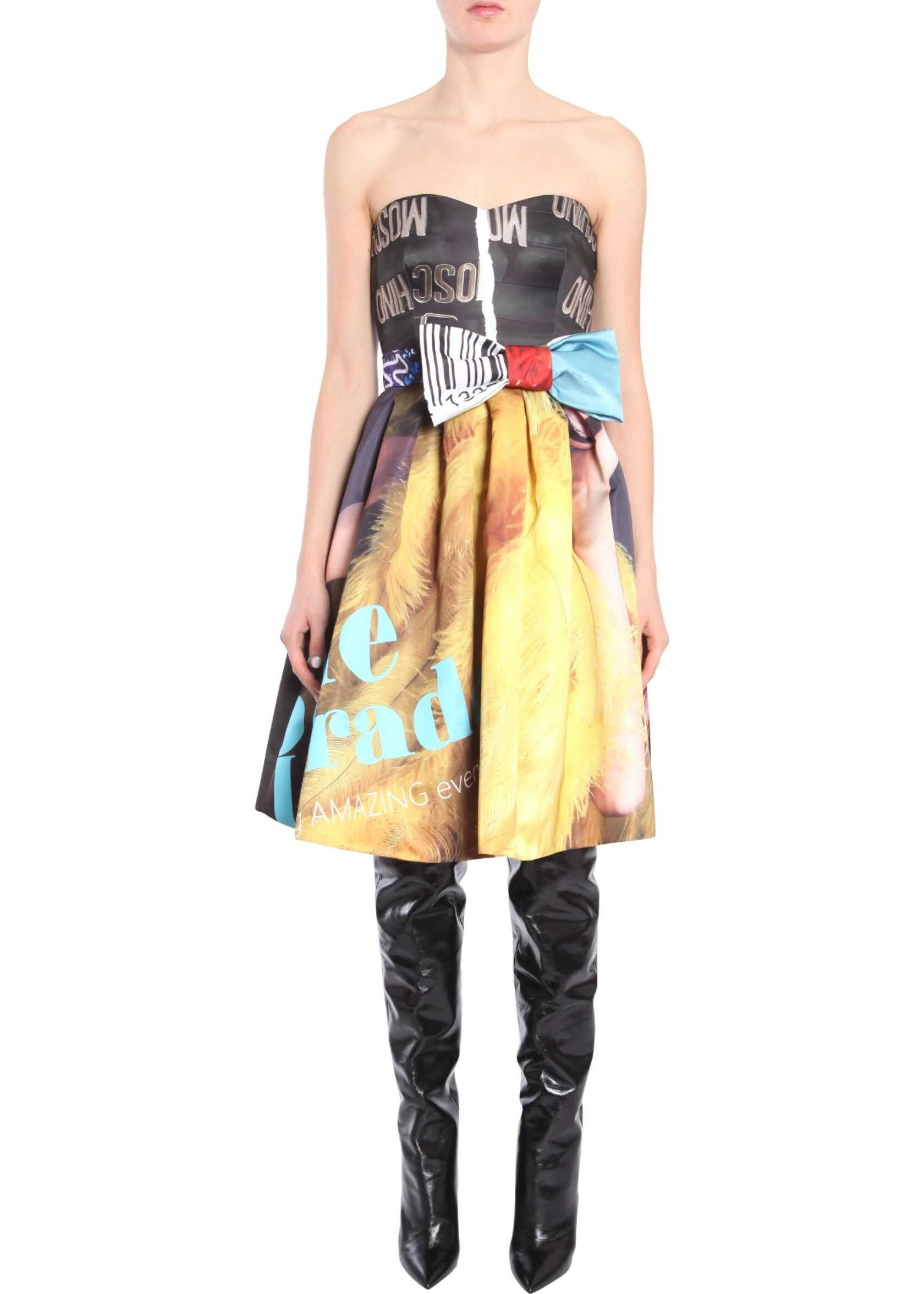 Moschino Bustier Dress With Bow MULTICOLOUR