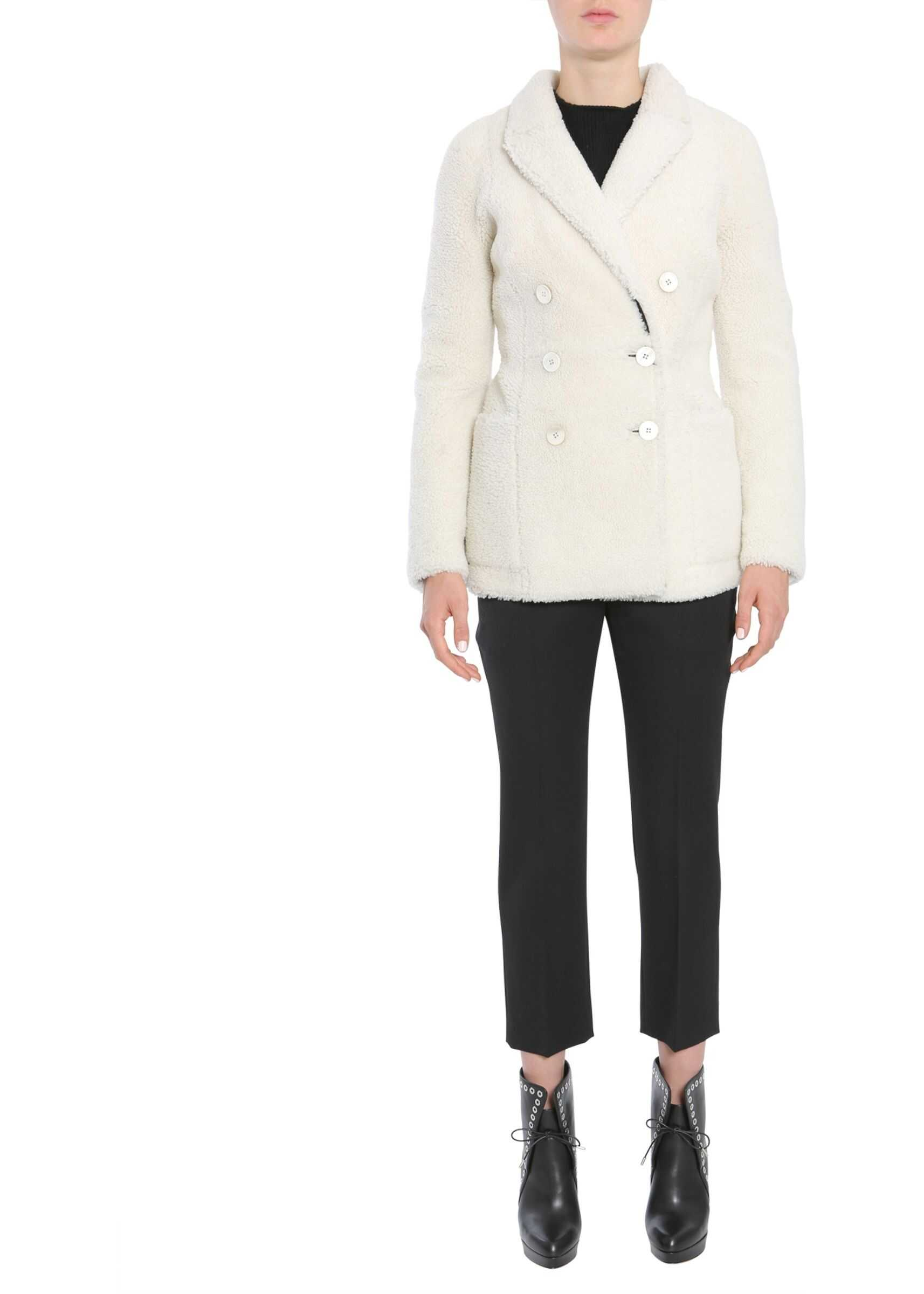 Alexander McQueen Double Breasted Coat 484229_Q5HLL.9213 WHITE image0