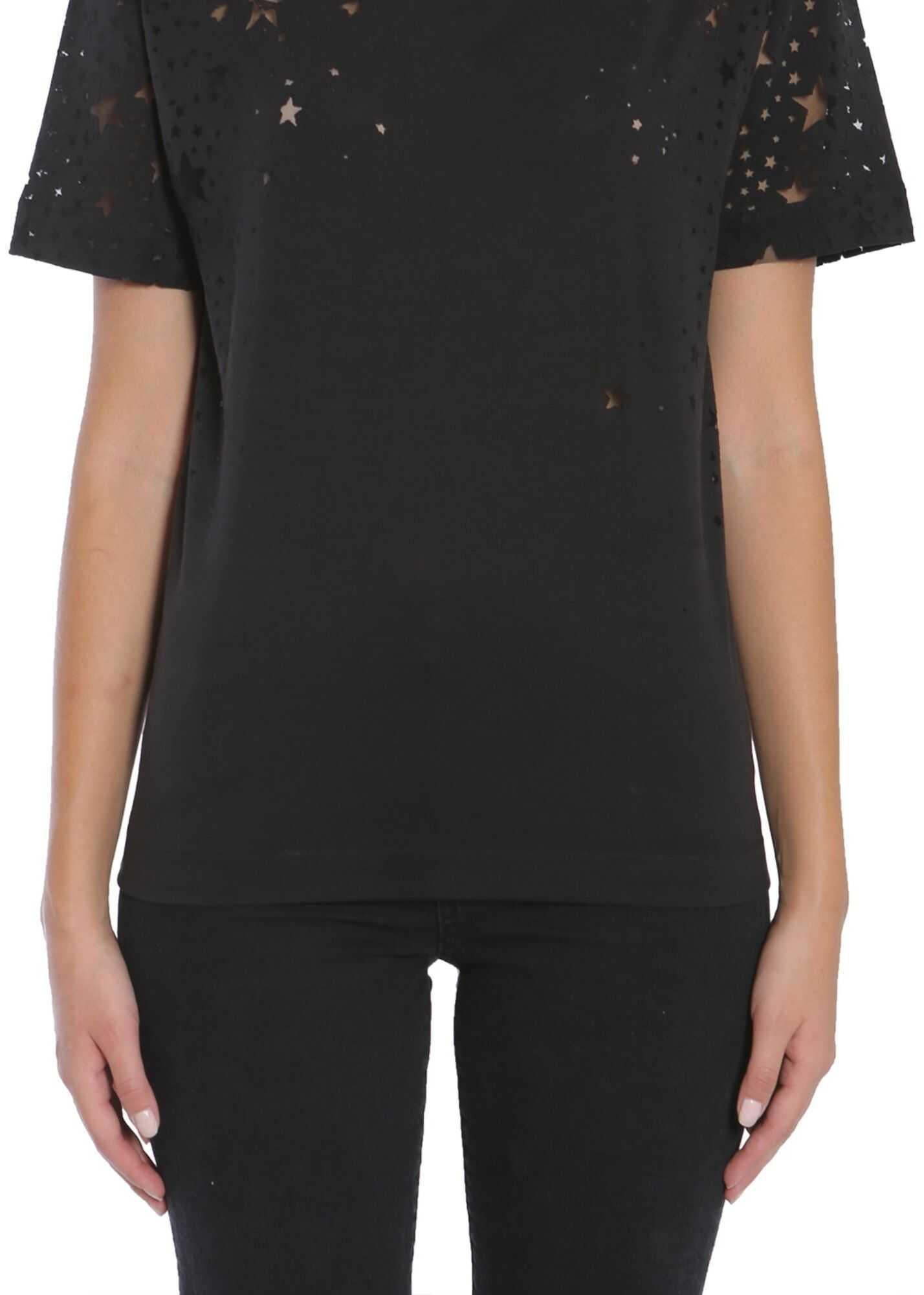 adidas by Stella McCartney Star Intarsia T-Shirt BLACK