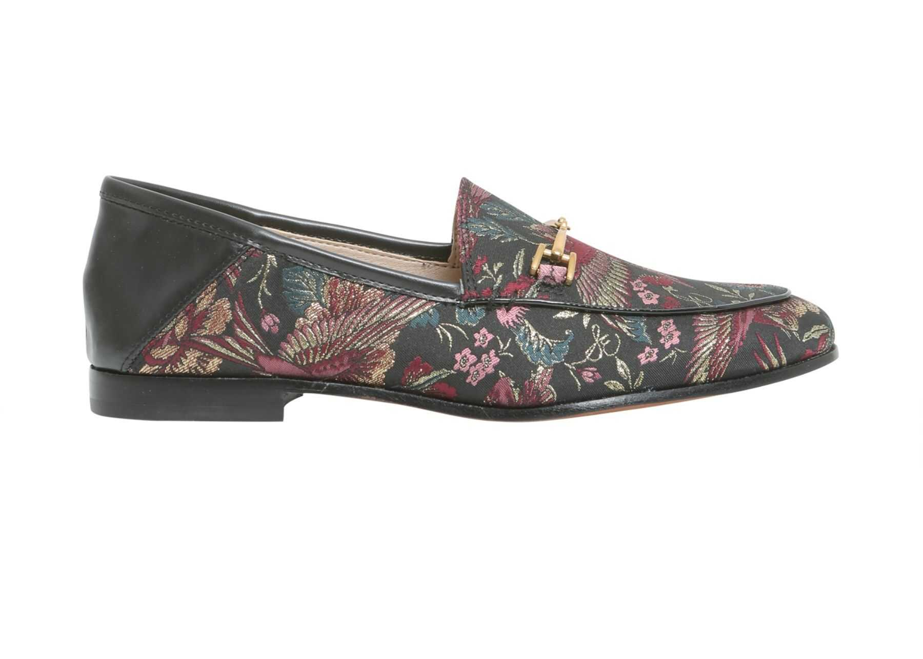 Sam Edelman Loraine Loafers In Jacqurd Fabric BLACK