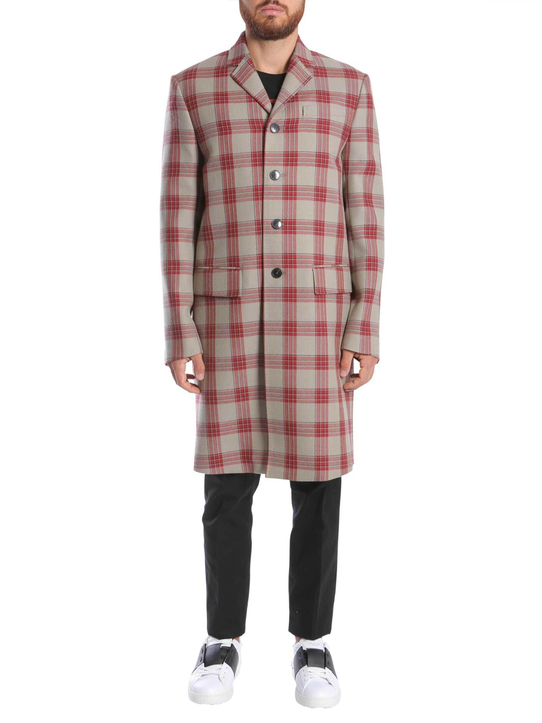 Valentino Garavani Jamie Reid Embroidered Coat BEIGE imagine