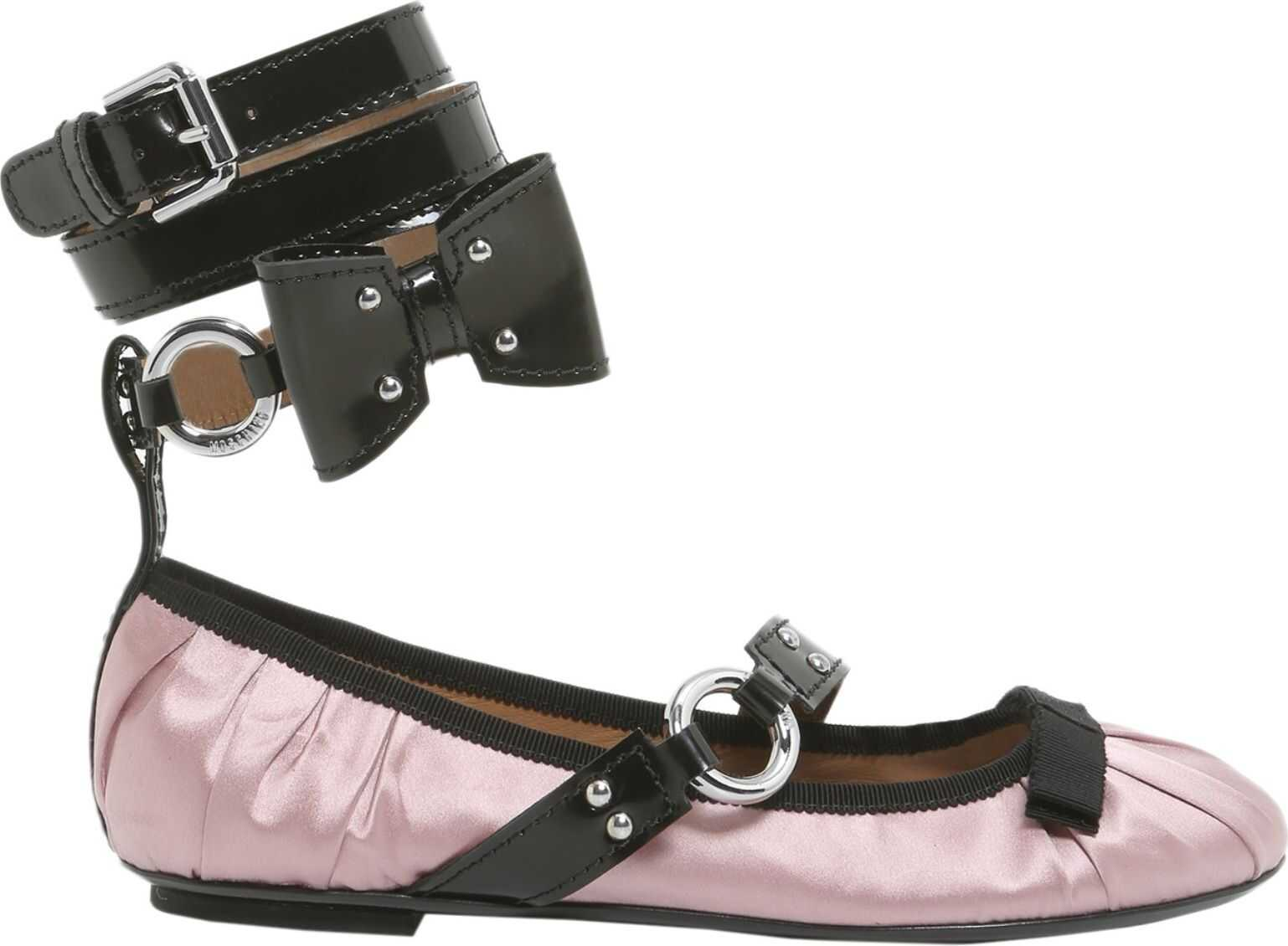 Moschino Ballerina With Painted Lace PINK