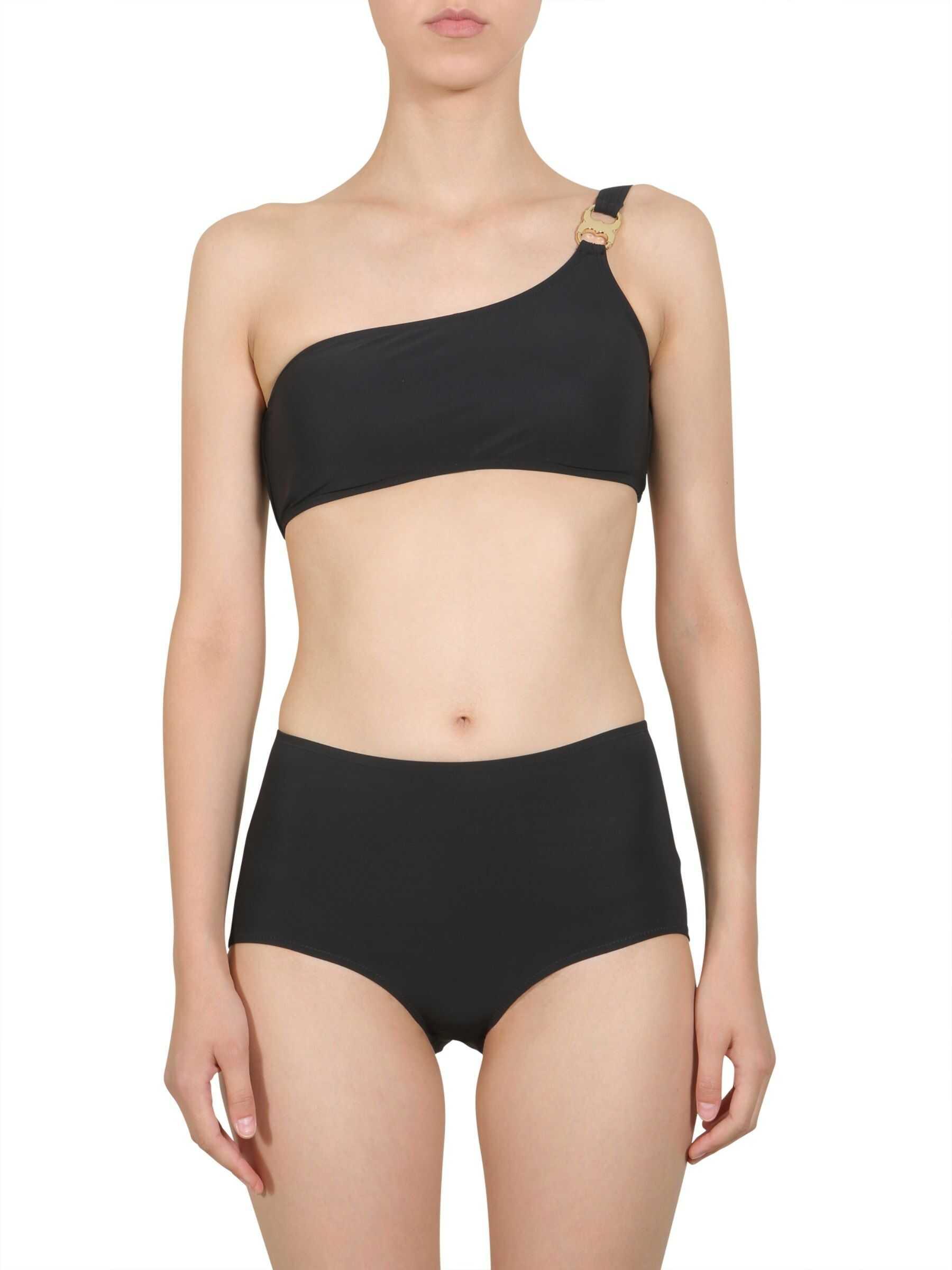 Tory Burch High Waist Bikini Slip BLACK