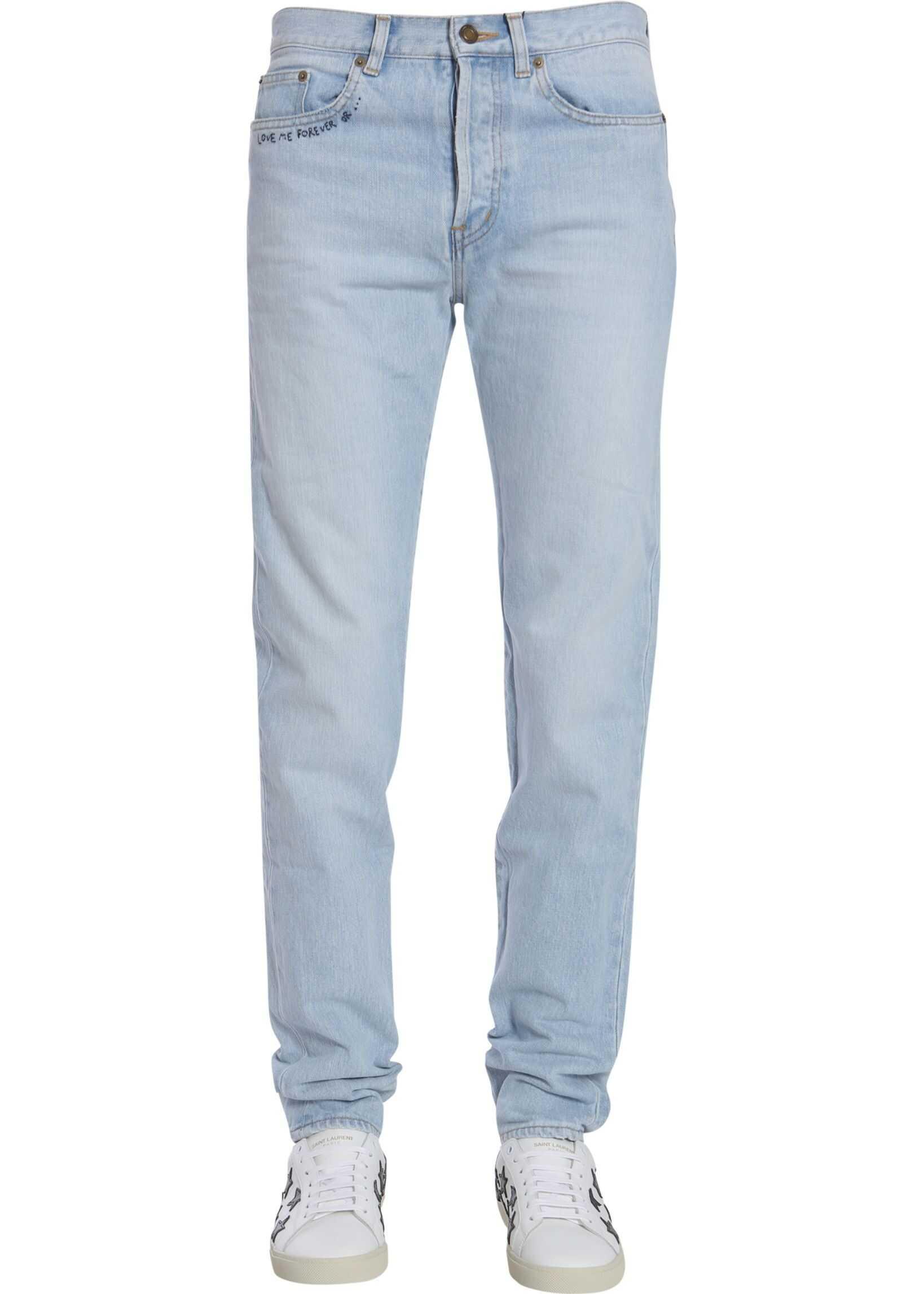 Saint Laurent Low Waist Jeans BLUE