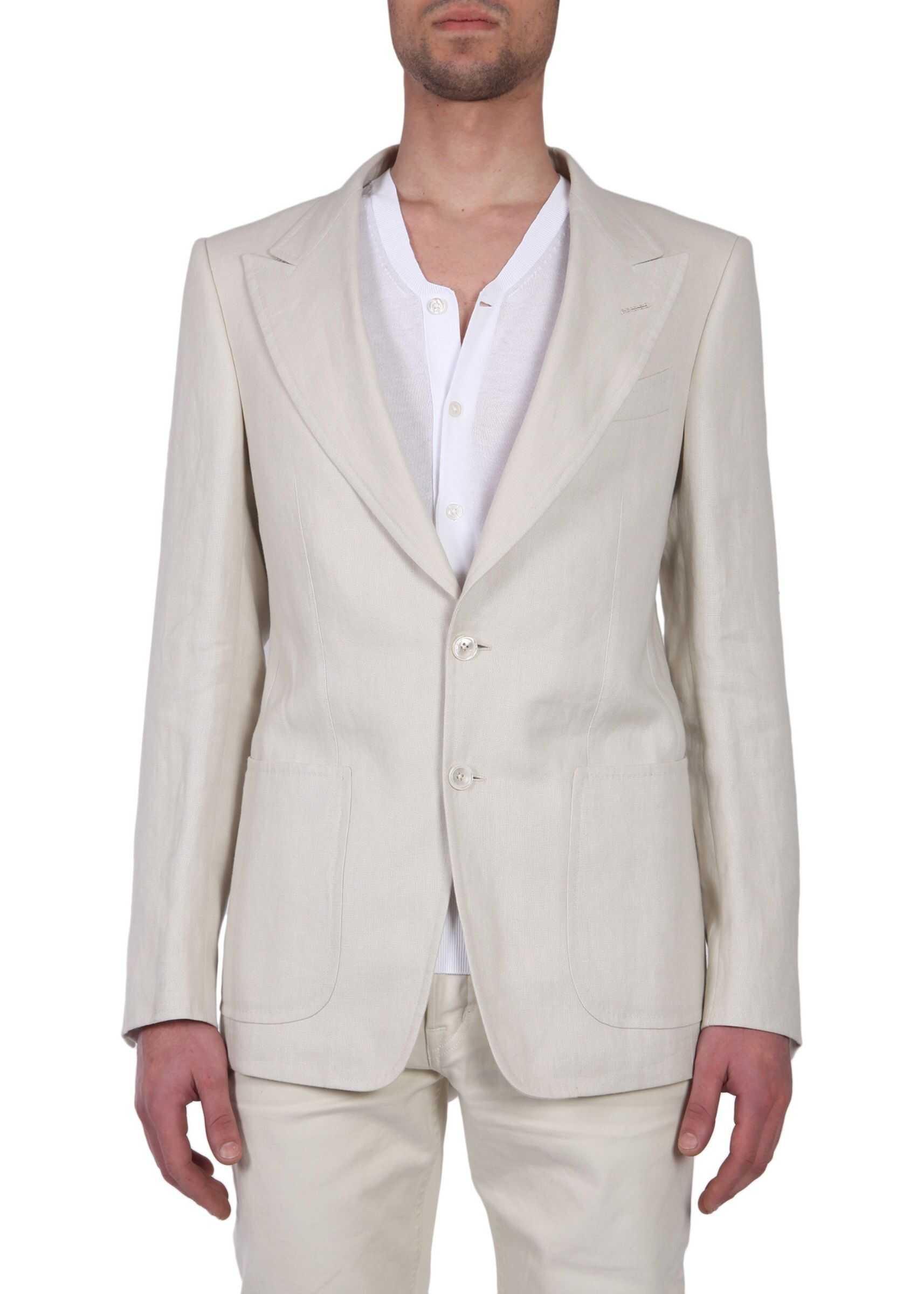 Tom Ford Single Breasted Jacket BEIGE imagine