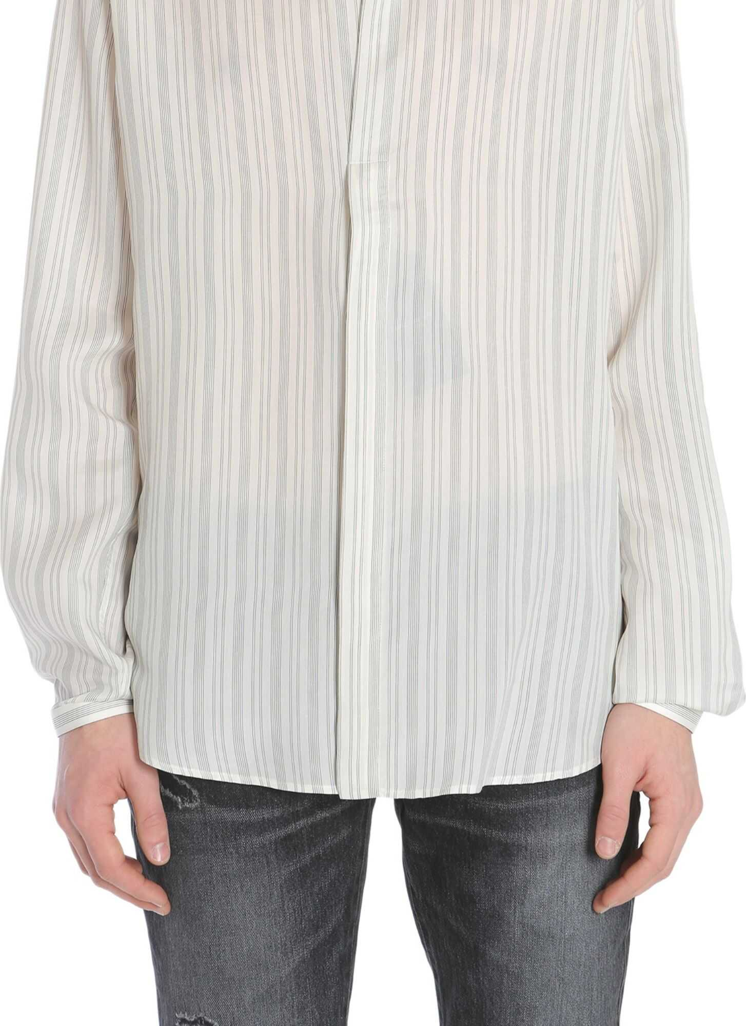 Saint Laurent Shirt With Tunisian Collar IVORY