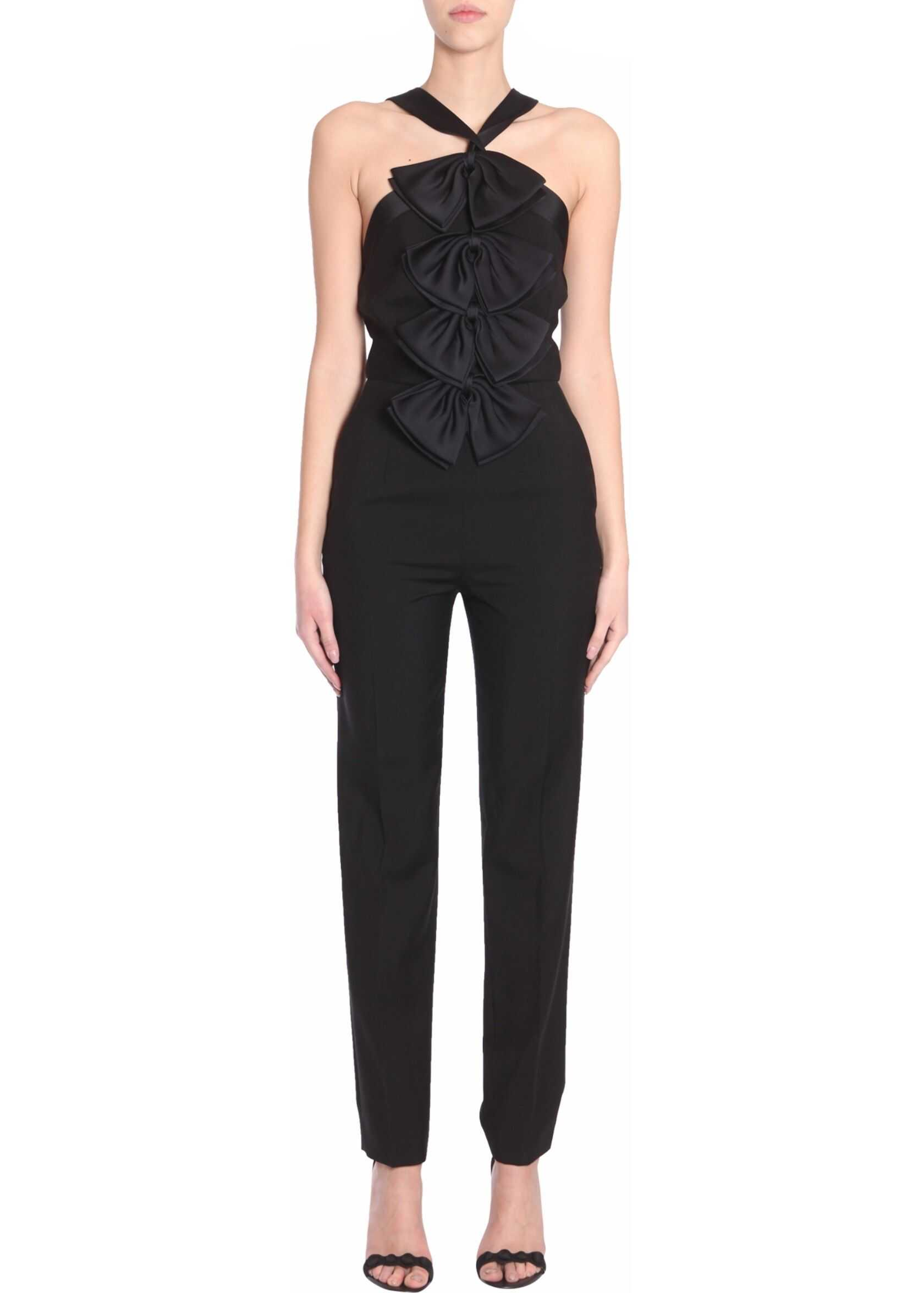 Givenchy Jumpsuit With Sain Bows BLACK