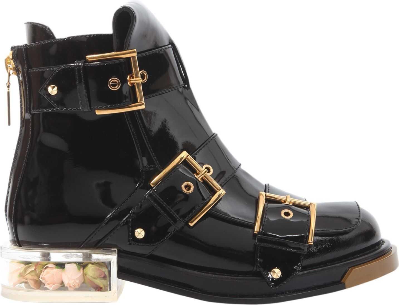Alexander McQueen Buckle Boots BLACK