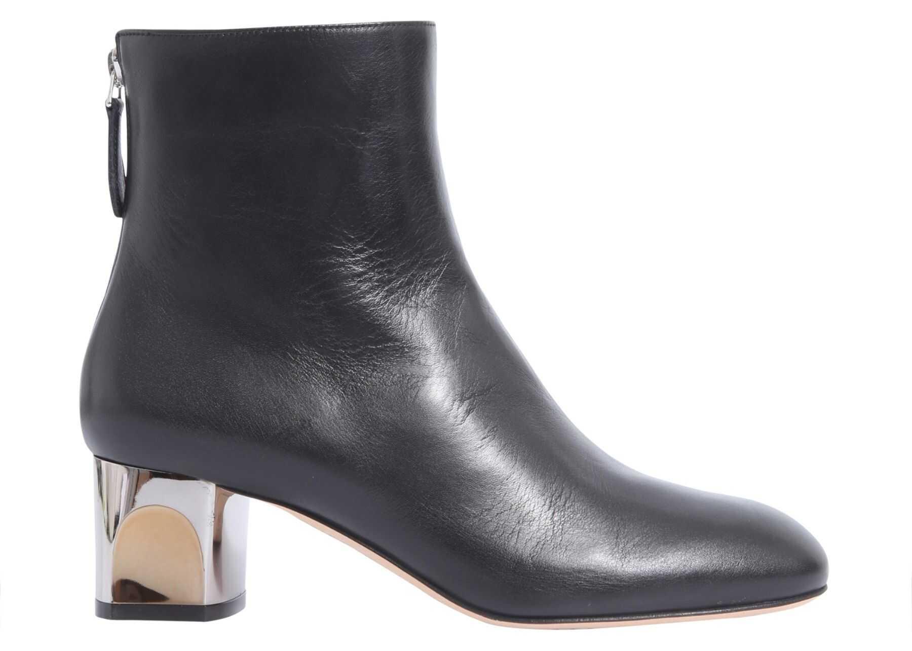 Alexander McQueen Sculpted Heel Ankle Boot BLACK