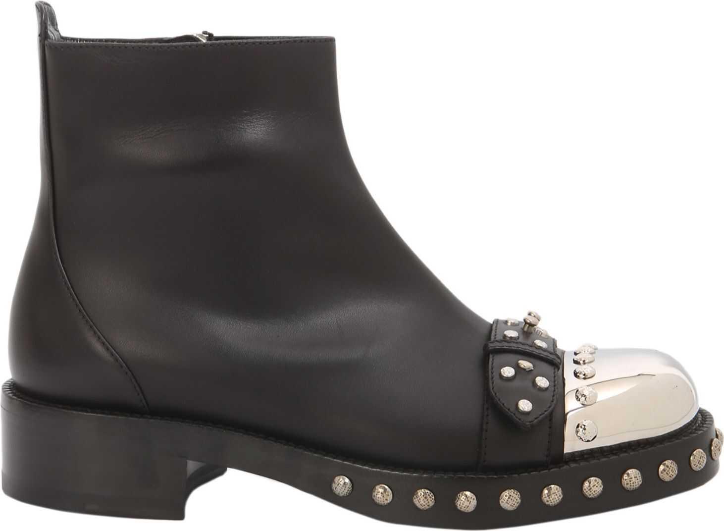 Alexander McQueen Hobnail Boots BLACK