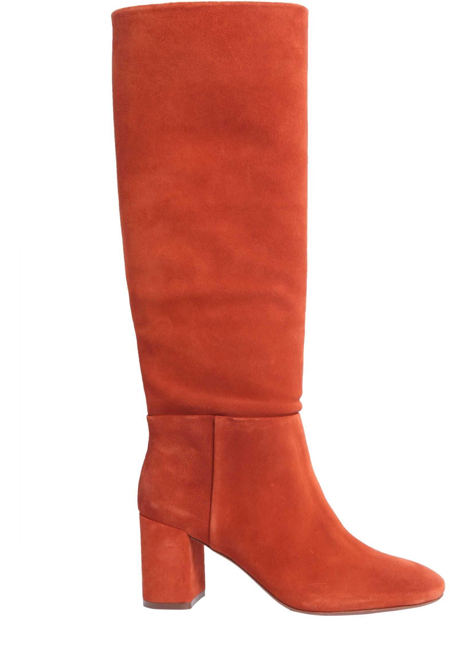 Tory Burch Brooke Slouchy Boots 49136_217 BROWN imagine b-mall.ro