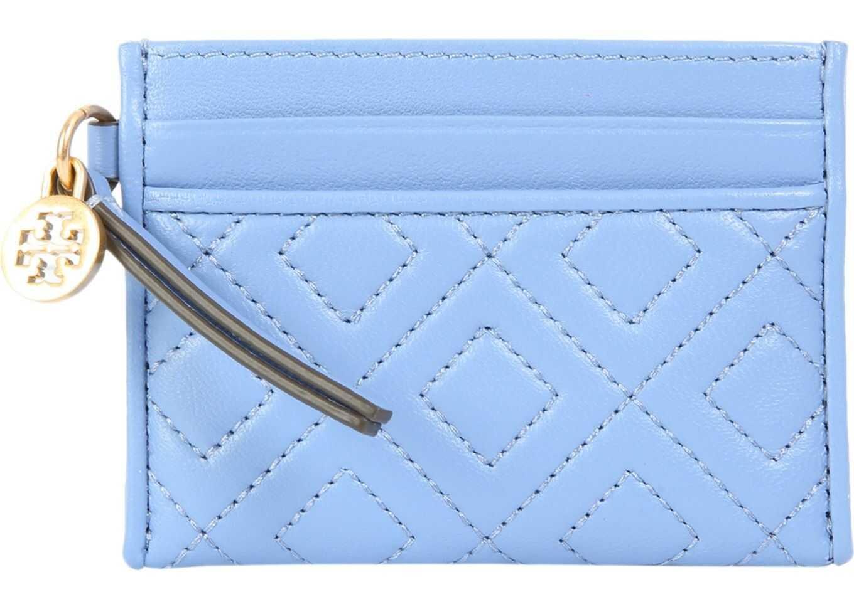 Tory Burch Fleming Slim Card Holder BABY BLUE