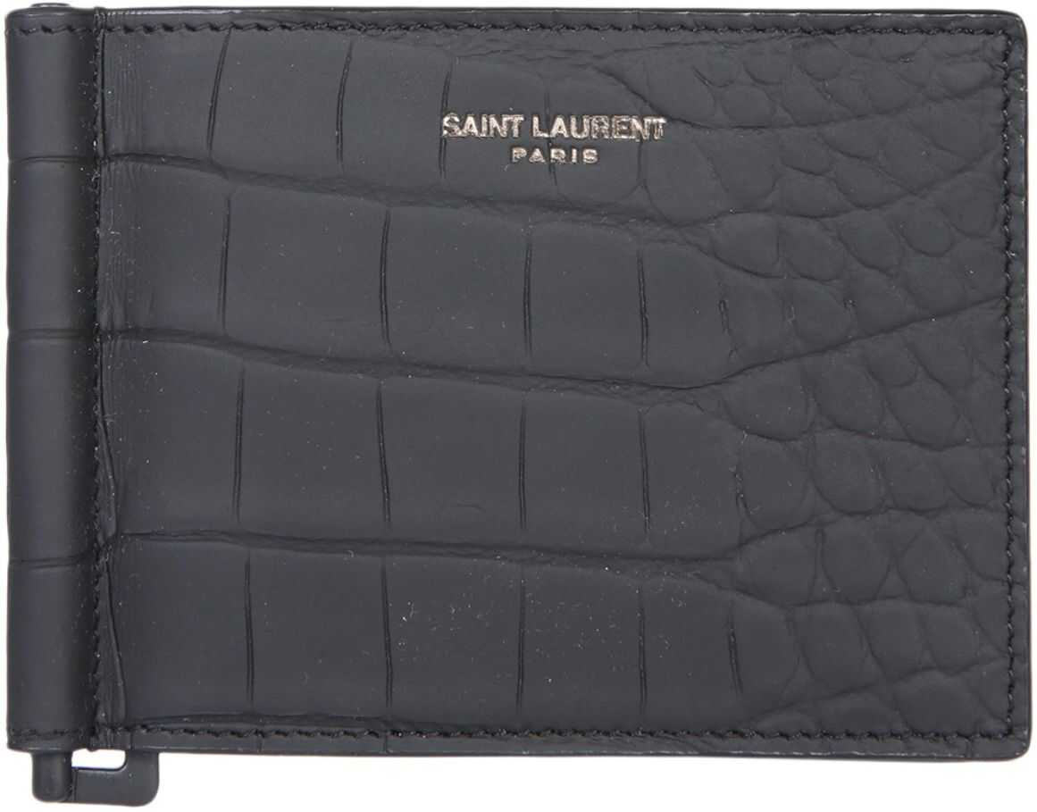 Saint Laurent Bill Clip Wallet BLACK